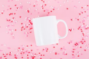valentine mug mock up