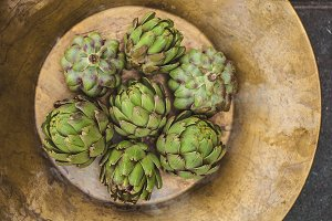 Bowl of Fresh Artichokes