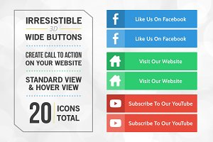 20 Irresistible Wide Icon Buttons