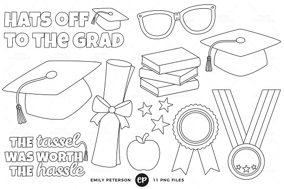 Graduation Digital Stamps