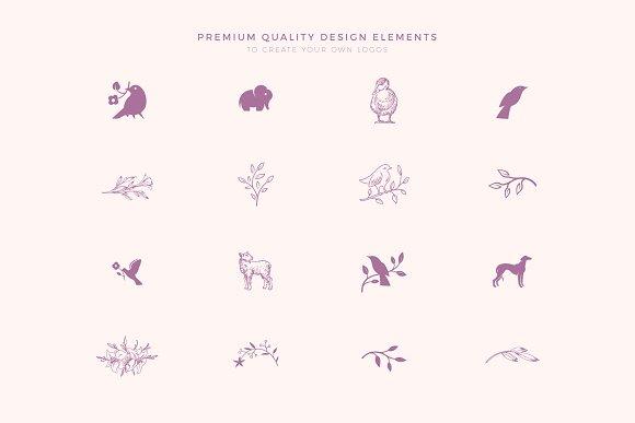 Elegant Feminine Premade Logos Set in Logo Templates - product preview 4