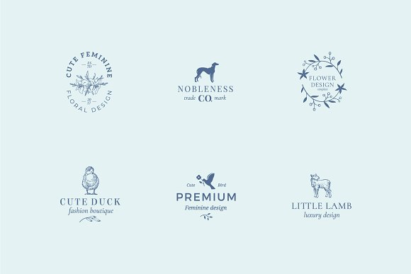 Elegant Feminine Premade Logos Set in Logo Templates - product preview 6