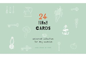 Set of funny cards