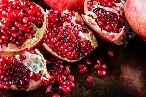 Ripe Open Pomegranate