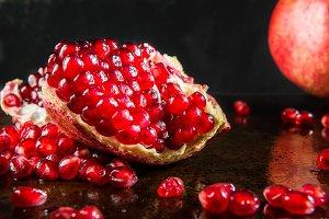 Ripe Open Pomegranate