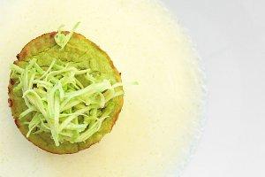 Flan zucchini cake