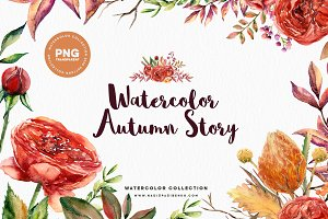 Watercolor Autumn Story