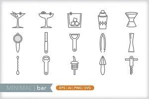 Minimal bar icons