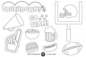 Football Party Digital Stamps