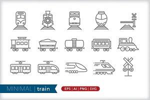 Minimal train icons