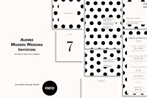Audree Modern Wedding Stationery