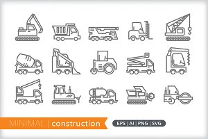 Minimal construction icons