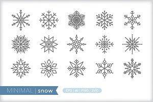 Minimal snow icons