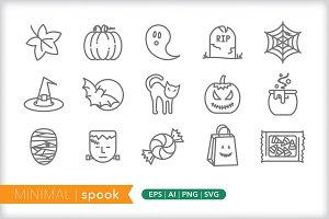 Minimal spook icons