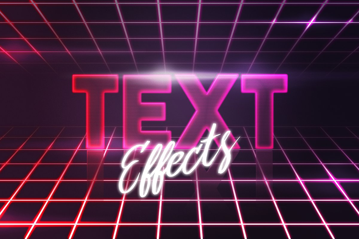 100 Text Styles PSD Effects Bundle ~ Photoshop Add-Ons
