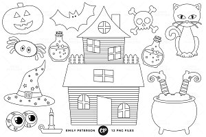 Halloween Digital Stamps