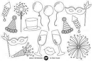 New Year's Eve Digital Stamps