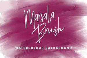 Marsala Brush Watercolour Background