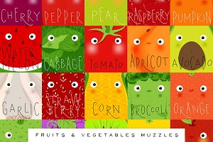 Fruits & Vegetables Muzzles