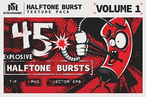 Halftone Burst Texture Pack