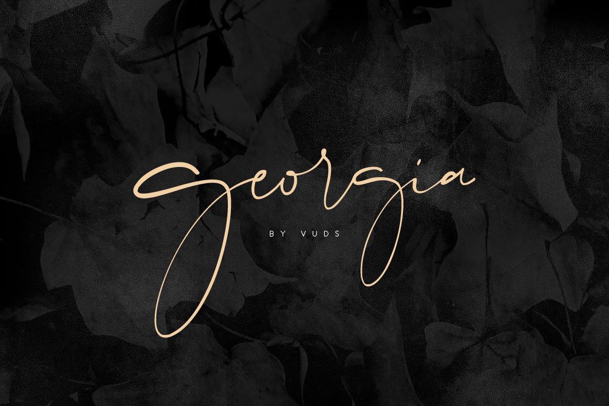 Georgia Script ~ Script Fonts ~ Creative Market