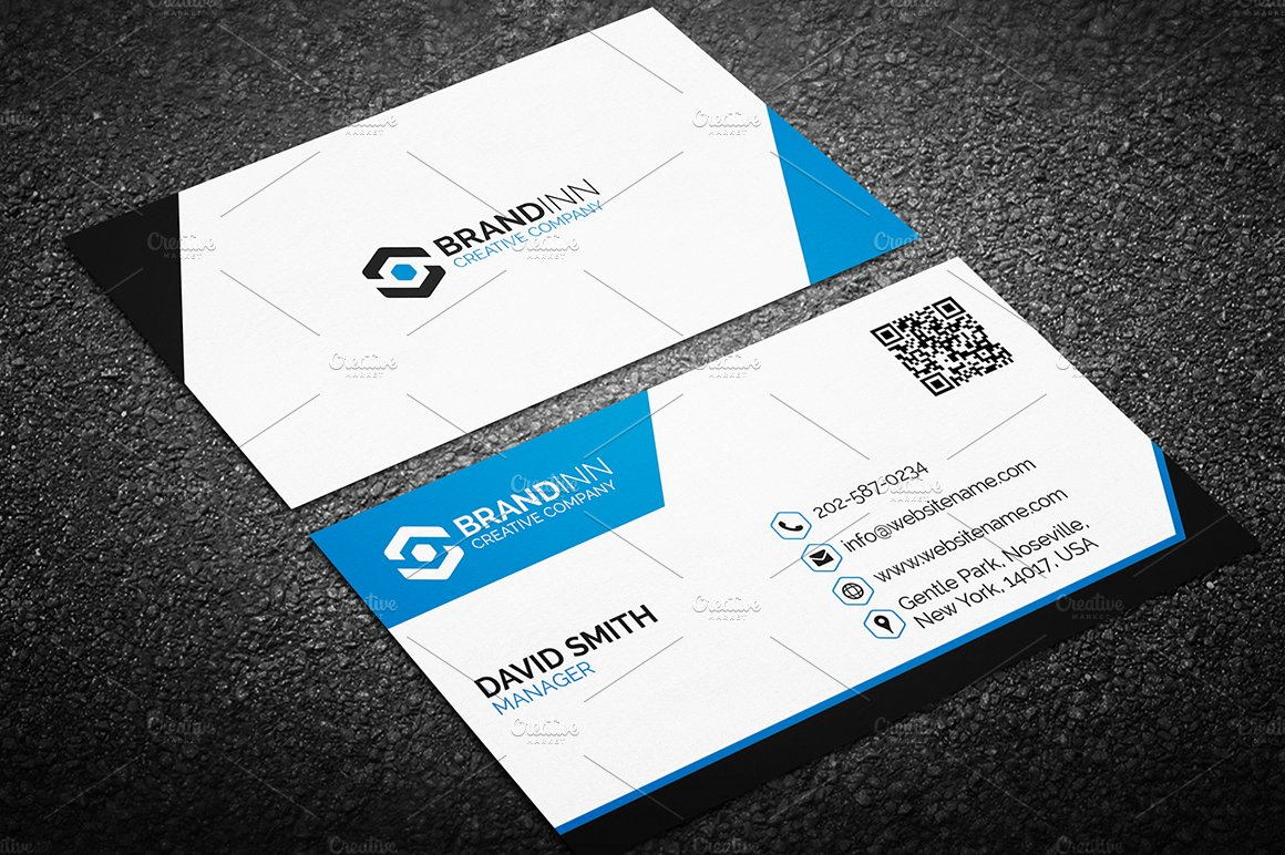 Modern Business Card Template Business Card Templates Creative Market