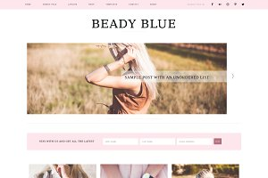 Blog+WooCommerce Beadyblue Theme