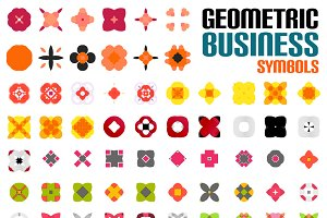 Set of colorful business symbols