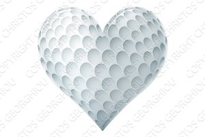 Golf Ball In A Heart Shape