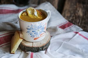 Pumpkin, fennel and Turmeric soup