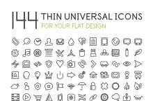 Large collection of thin web icons