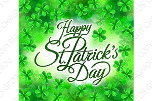 Happy St Patricks Day Shamrock Clove