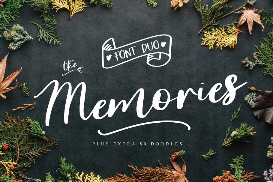 The Memorie Font DUO & Doodle