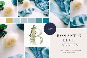 Romantic blue stock photos for blog
