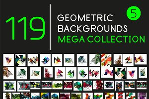Collection of geometric backgrounds