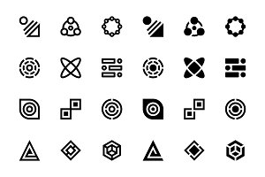 34 Abstract Icons