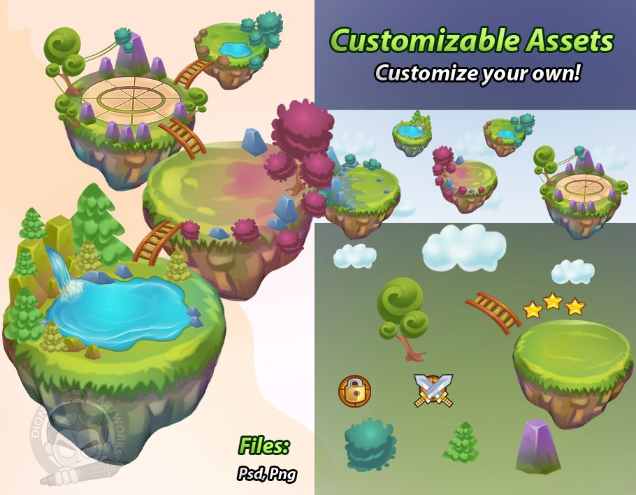 World game level map assets illustrations creative market gumiabroncs Gallery