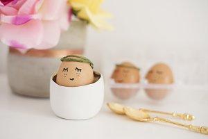 Sleeping eggs. Easter concept