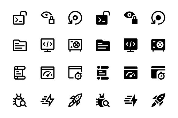 26 Web & Mobile Development Icons