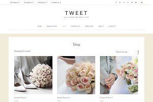 WordPress Theme | Blog Tweet Theme