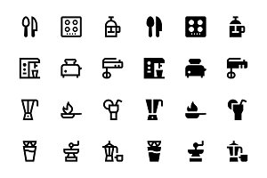 74 Food and Drinks Icons