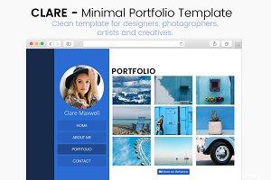 Clare - Minimal Portfolio Template