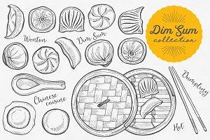 Dim Sum hand-drawn graphic