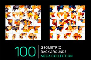100 futuristic geometric backgrounds