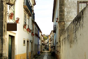 Medieval Street in Obidos