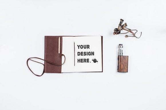 Notebook mockup in Print Mockups