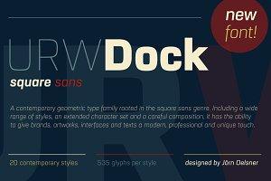 URW Dock Extra Bold Italic