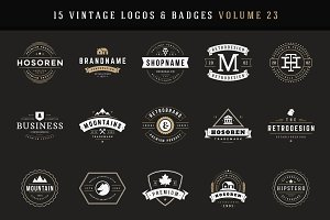 20% Off - 15 Retro Vintage Logotypes