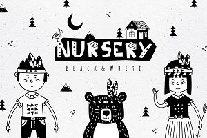 Black&White Nursery Art