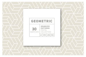 Thirty Geometric Seamless Patterns